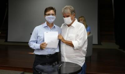 Presidente do VOTUPREV é reempossado pelo Prefeito Jorge Seba